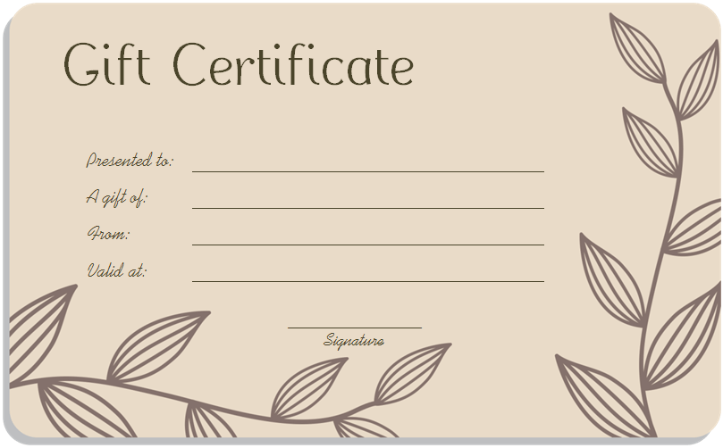 Gift Certificates Templates | Business Plan Template