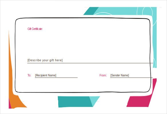 present voucher template gift voucher templates printable gift