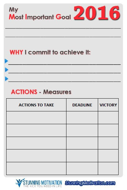 Goal Setting Worksheet Download