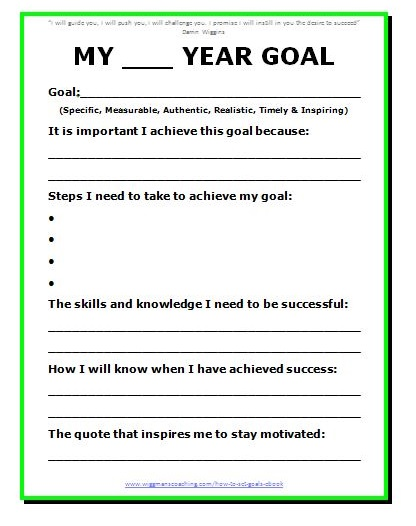 Goal Setting Template 3+ Free Word, PDF Document Download | Free