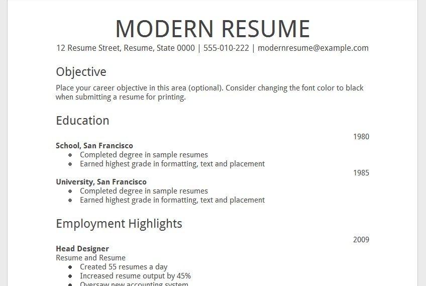 Awesome Resume Templates For Google Docs 8 Template CV Resume Ideas