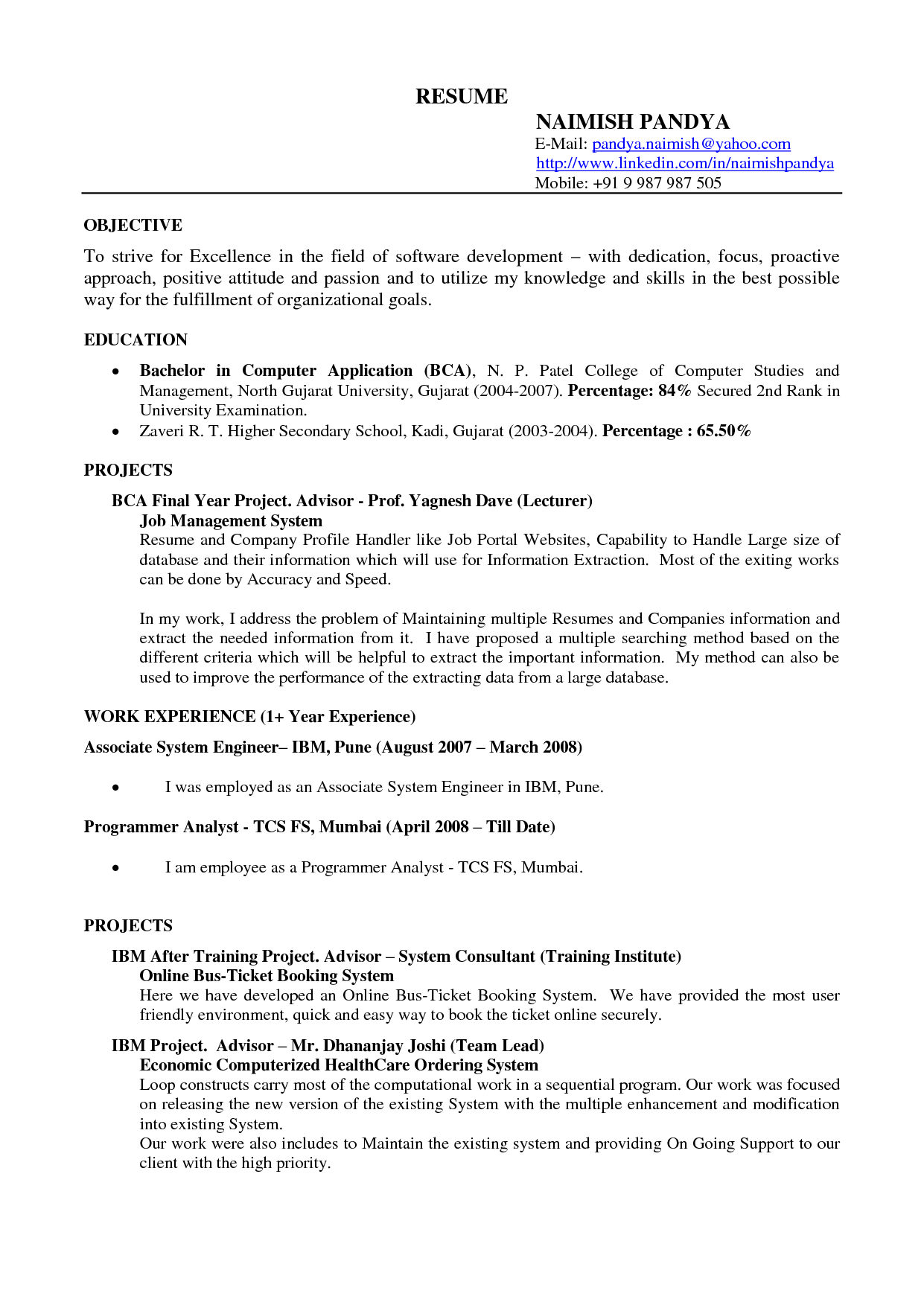 Google Resume Examples | berathen.Com