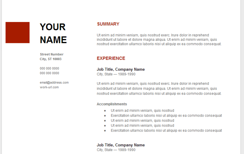 Inspirational Resume Templates For Google Docs 5 Lovely 7 In How