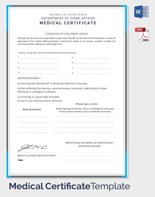 How To Make A Fake Medical Certificate Online | planner template free