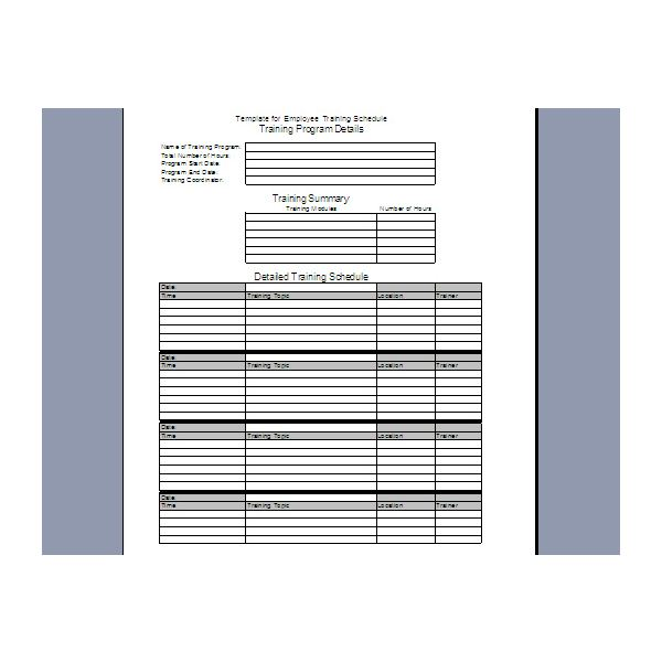 8+ individual employee training plan template | joblettered