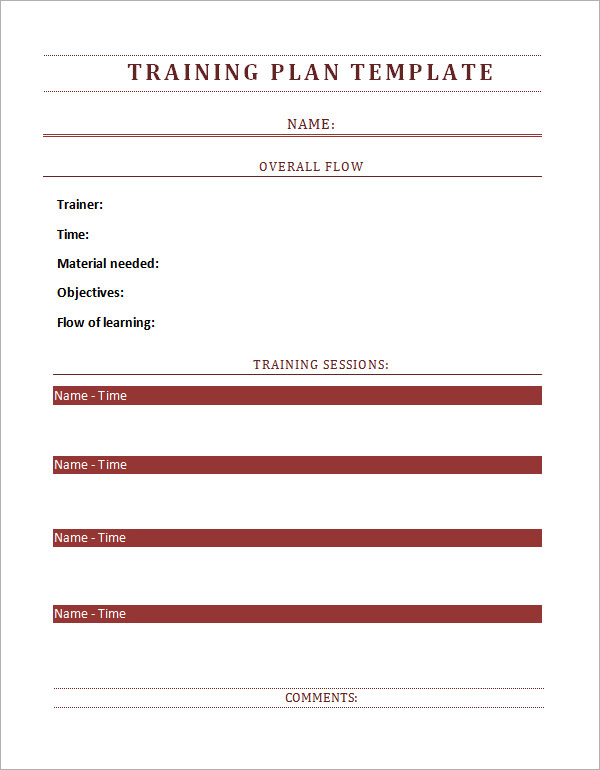 Training Plan Template 17+ Download Free Documents in PDF, Word