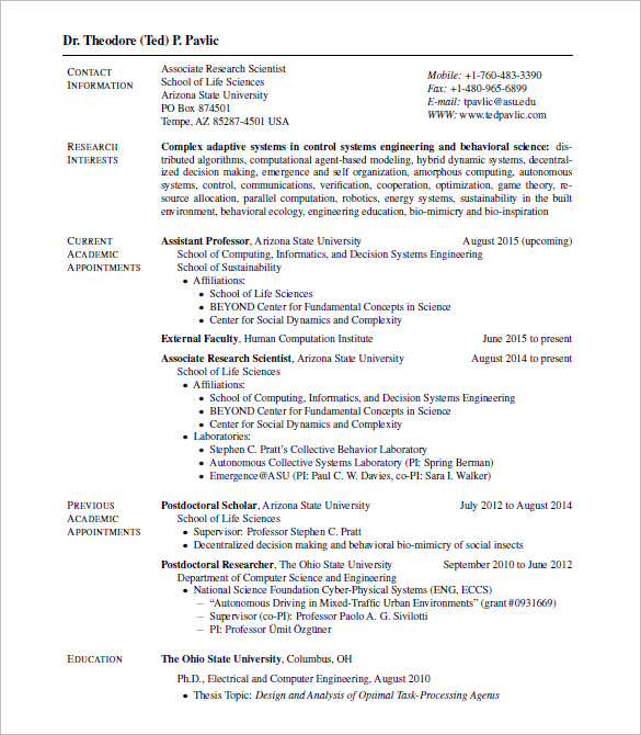 Resume Templates Latex Engineering