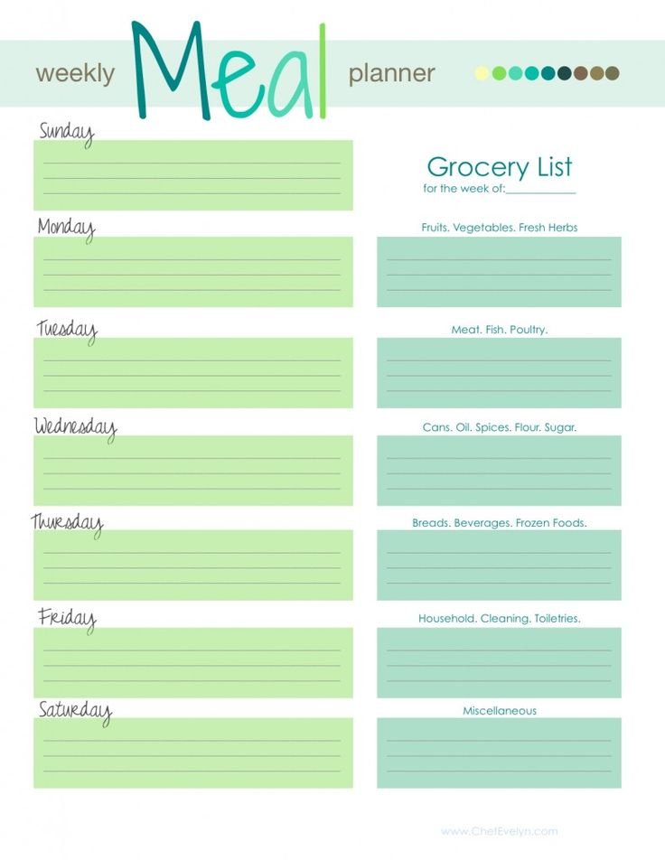 Free Meal Planning Template! | This Mommy Cooks Dinner | Clean