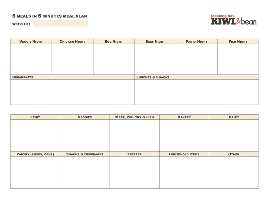 Meal planner template google docs planner template free for Diary template google docs