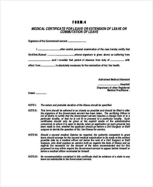 medical certificate format for sick leave  u2013 planner template free