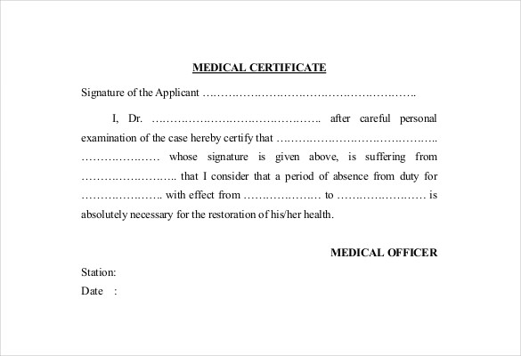 Doctor Certificate Template 17+ Free Word, PDF Documents