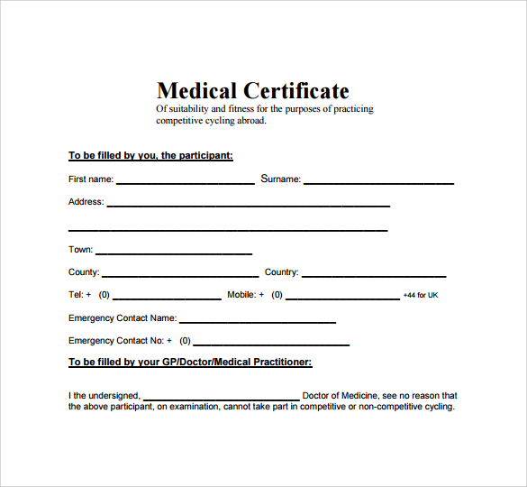 Top 5 Free Medical Certificate Templates Word Templates, Excel