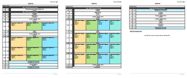 Meeting Planner Template Organize Your Agenda Meetings