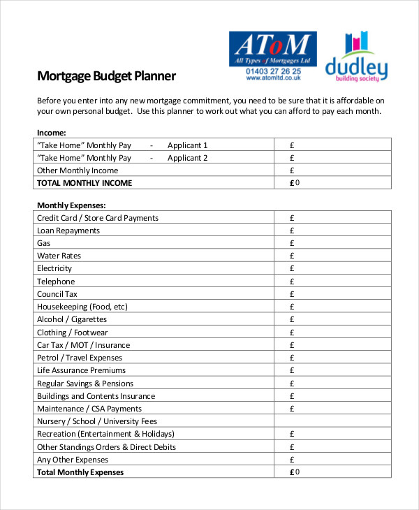 Monthly Budget Planner Template 10+ Free Excel, PDF Documents