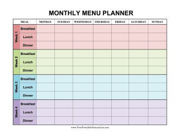 Best 25+ Monthly meal planner ideas on Pinterest | Monthly menu