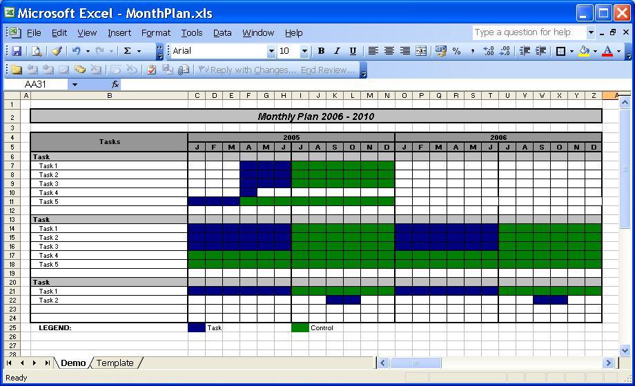 OfficeHelp template (00030) Calendar Plan Month Planner Template