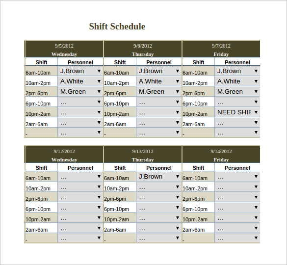 Cleaning Schedule Template – 6 Free Templates | Schedule Templates