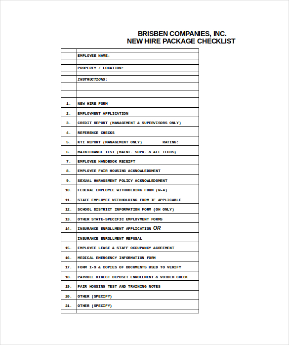 new employee orientation checklist excel  u2013 planner