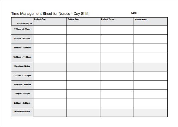 Nursing Schedule Template – 7+ Free Word, Excel, PDF Format