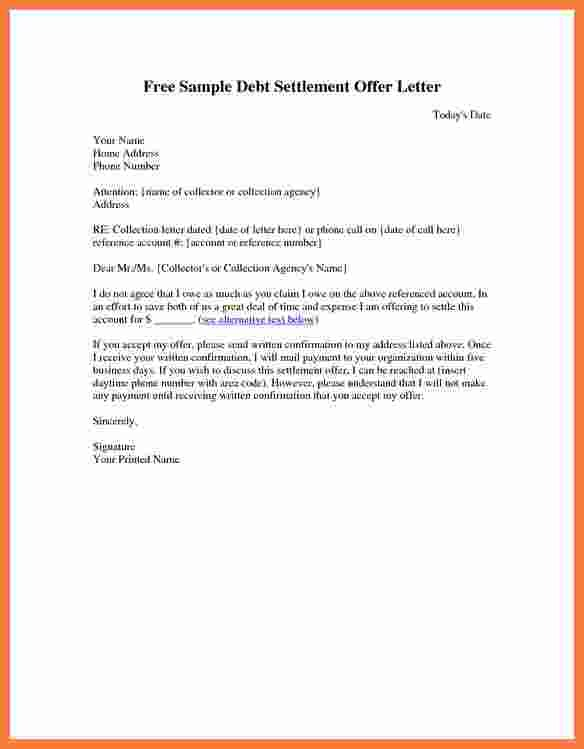 Settlement Offer Letter Meaning | Sample Company Profile Garments