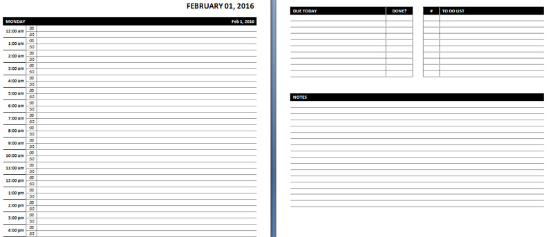 Online Planner Template Planner Template Free
