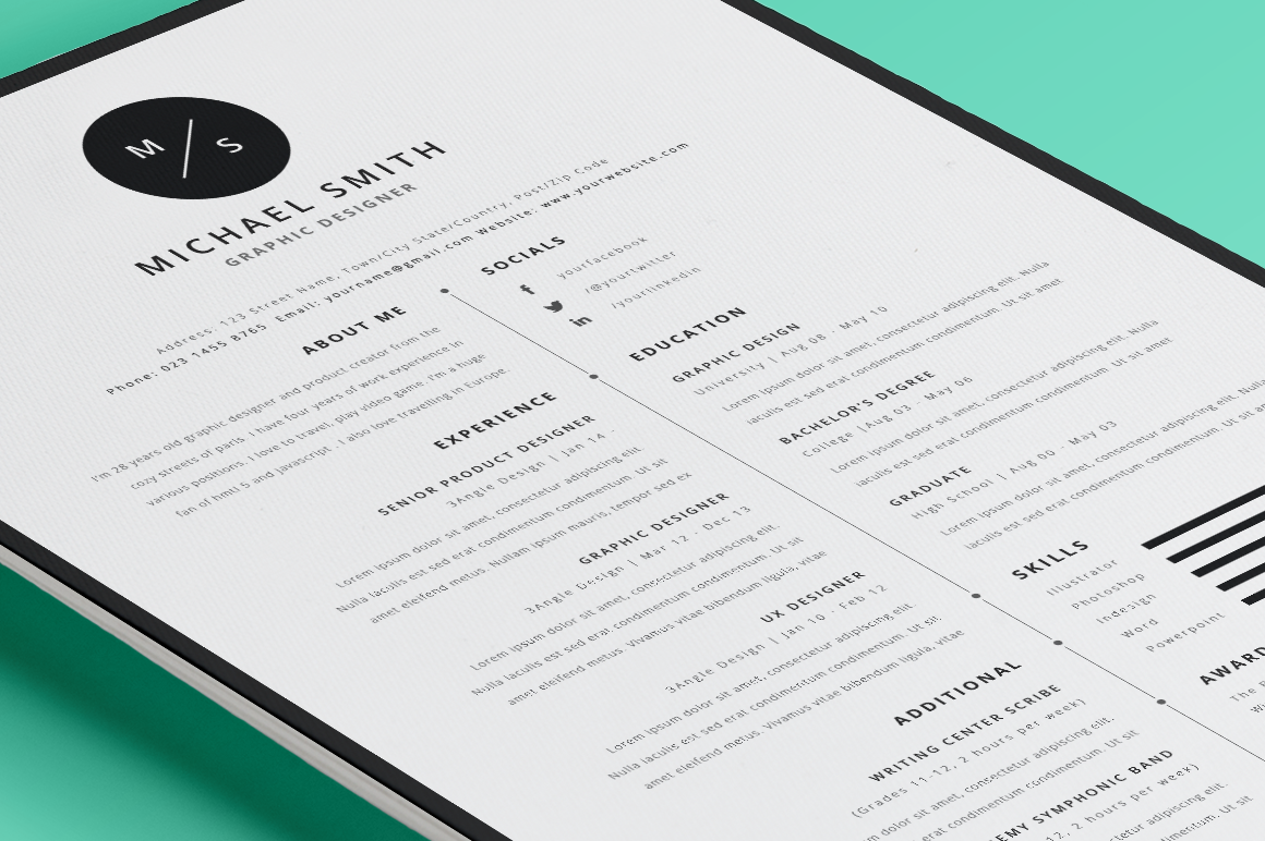 pages resume templates 2016 free