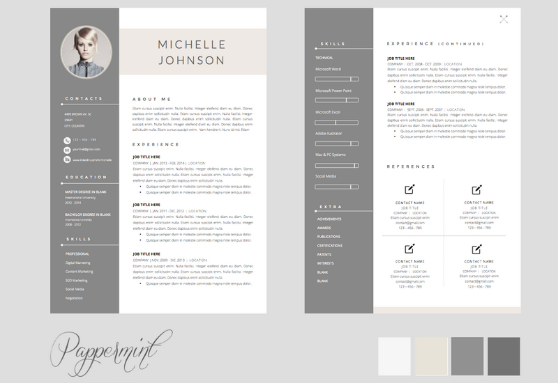 Vibrant Creative Resume Templates Pages 6 The Best CV Resume