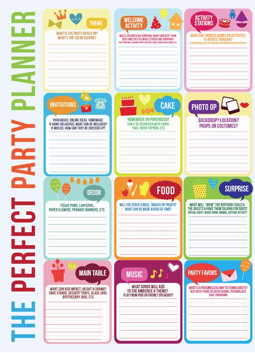 Birthday Party Planning Checklist Template | Free Business Template