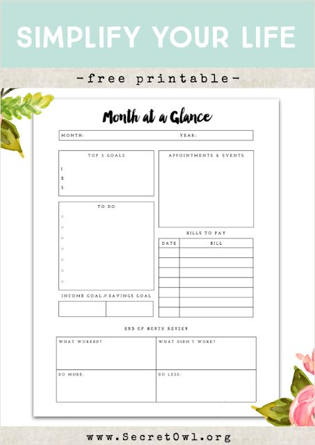 Best 25+ Monthly planner printable ideas on Pinterest | Monthly
