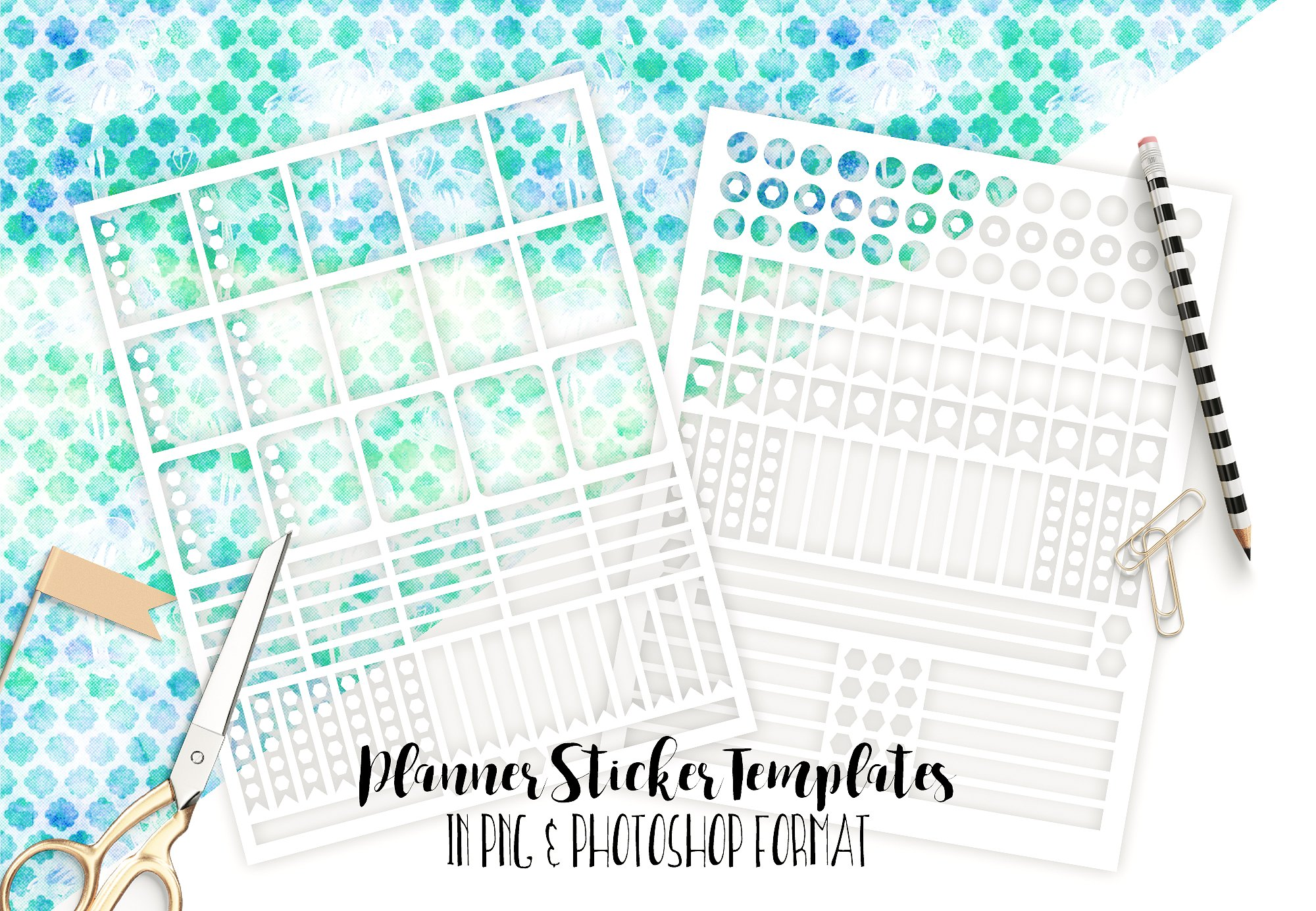 DIY Planner Stickers with Silhouette Portrait