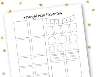 9+ Planner Stickers Free PSD, AI, Vector EPS Format Download
