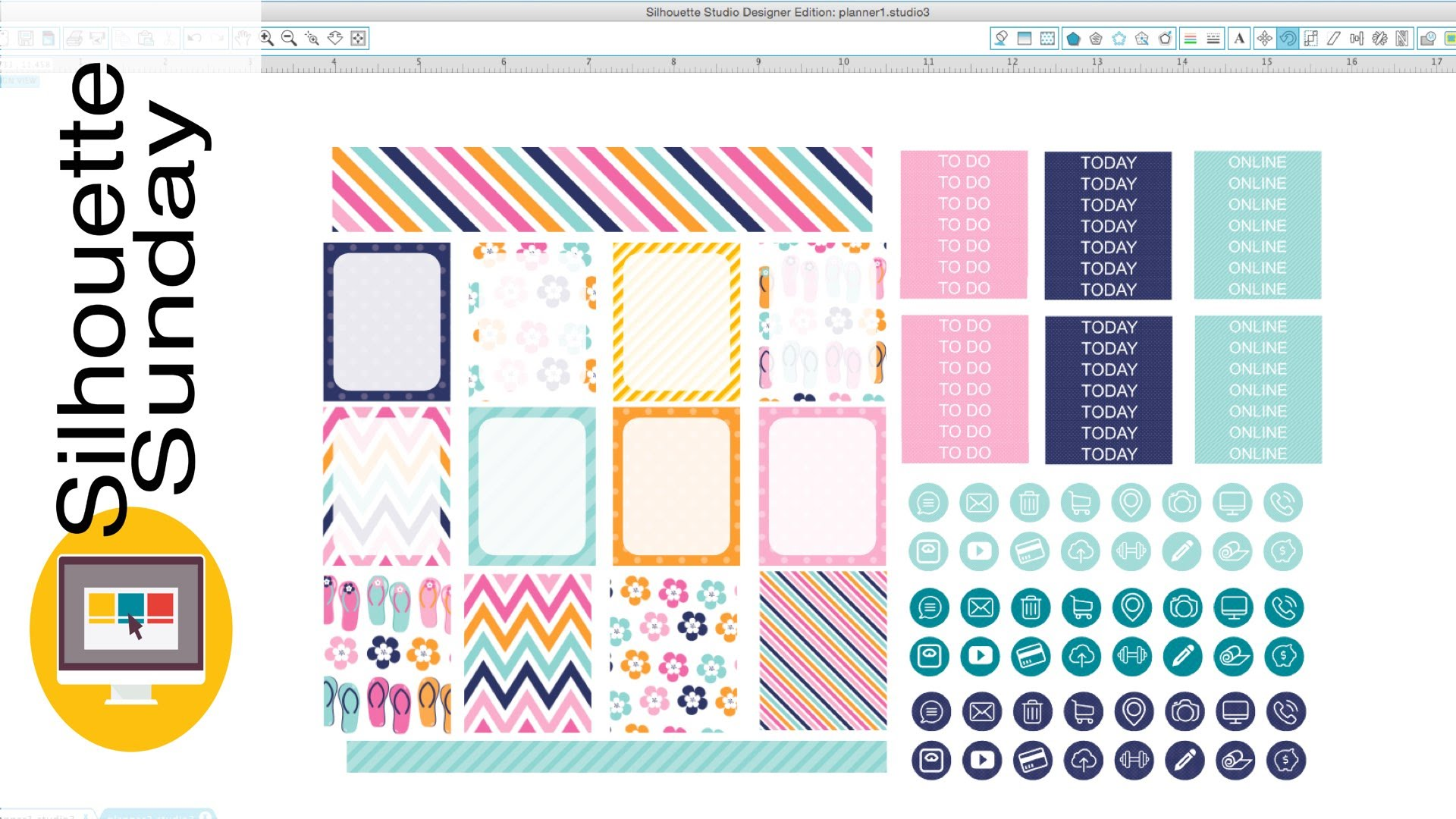DIY Planner Stickers (Free Template) | Silhouette Sunday YouTube
