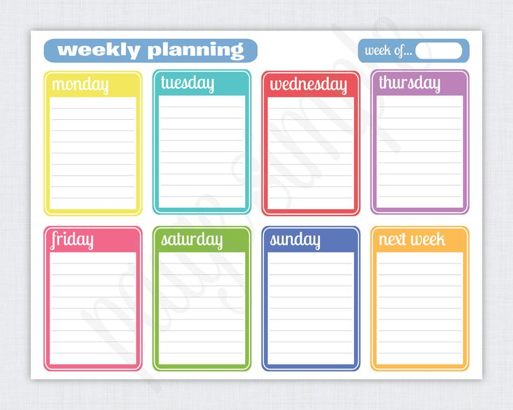 Daily Planner Template. Day Planner Printable | Womens Accessories