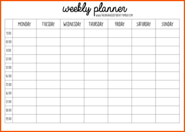 Daily Planner Template Word Excel PDF