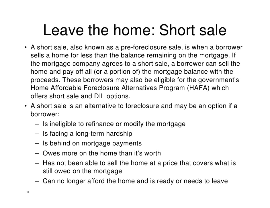 FHA Short Sale Approved – Pre Foreclosure Sale Approved by JP