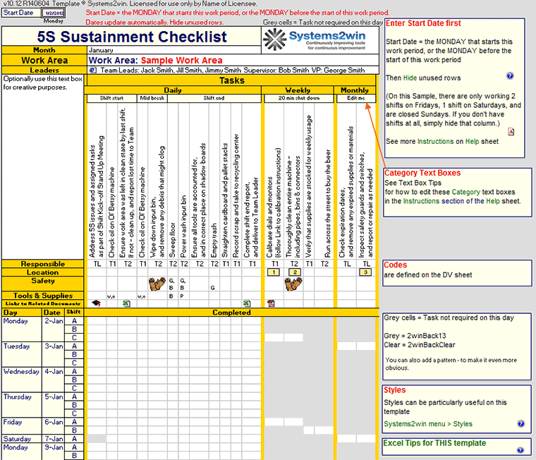 Preventive Maintenance Checklist Maintenance Schedule template