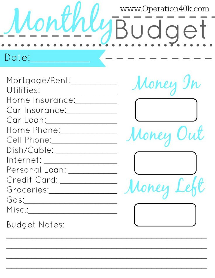 Best Monthly budget planner Printable