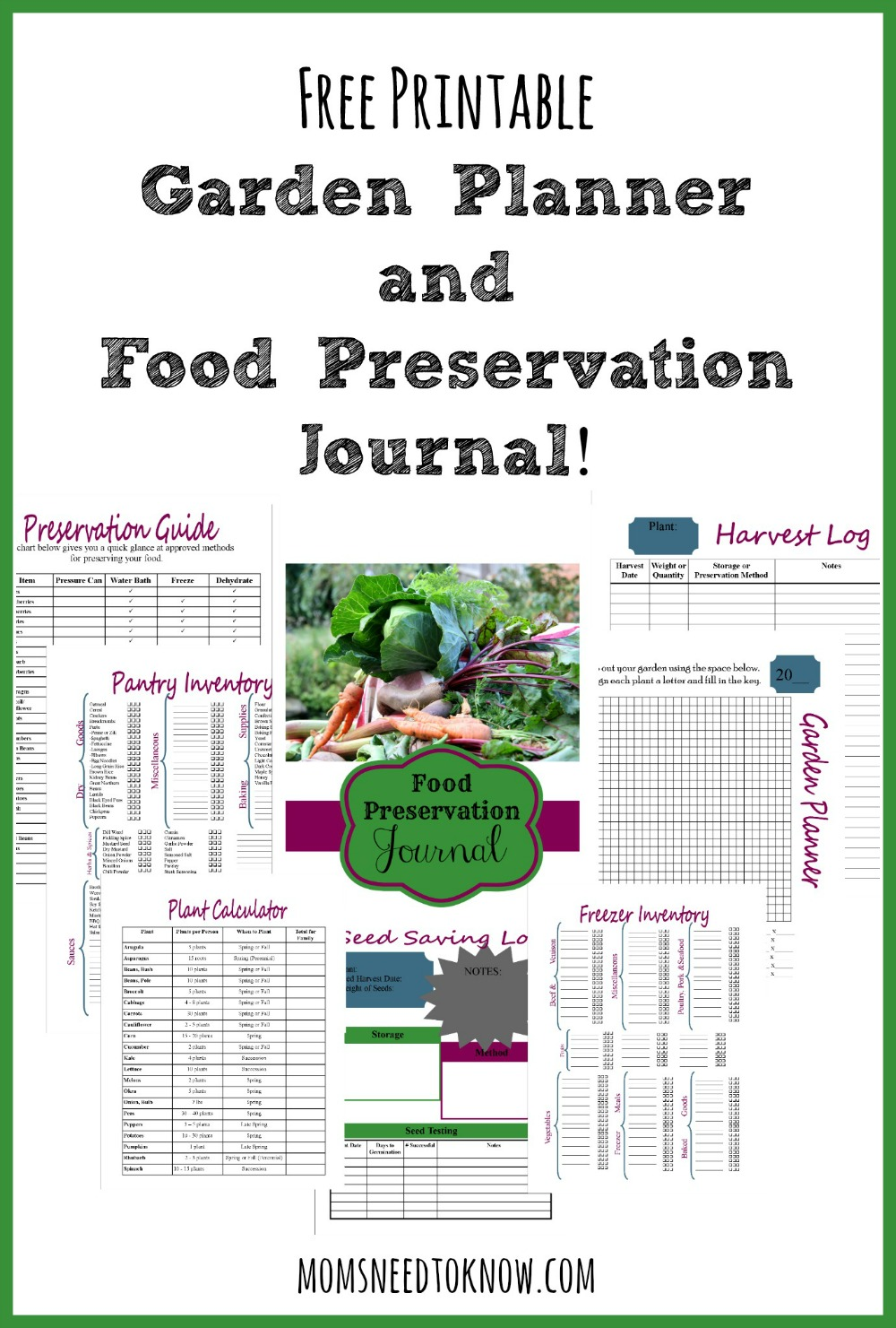 Free Printable Vegetable Garden Planner | The Garden Inspirations