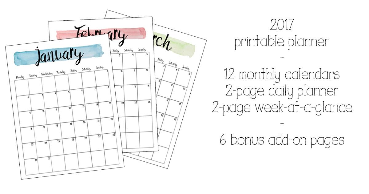 50+ 2017 FREE printable calendars | Free printable calendar