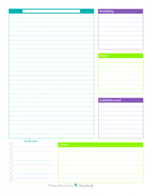 Printable Planner Sheets