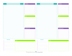 Printable planner sheets planner template free for Daily planner maker