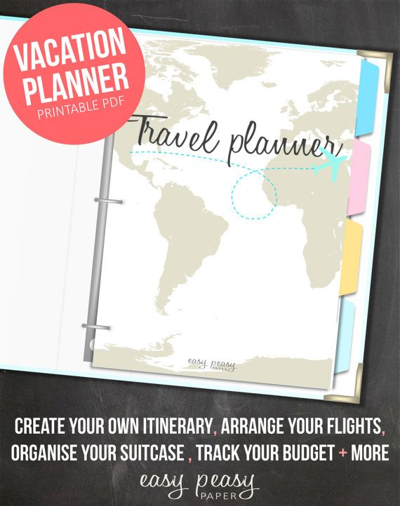 Travel Organizer Printable Journey Planner Travel Planner Trip