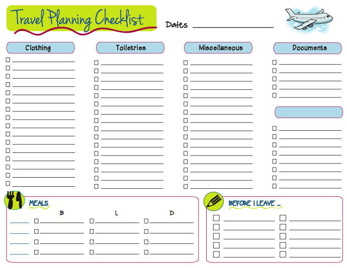 Road Trip Planner Printable and Editable Travel Planner