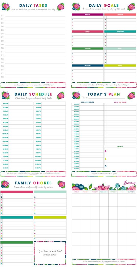 Printable time management sheets planner template free for Time management planner templates free
