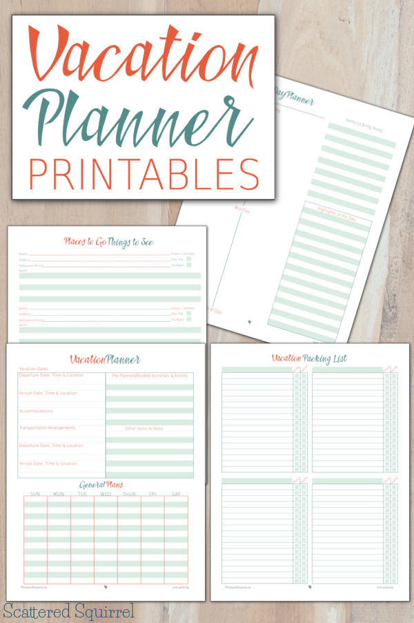 Take your trip with Glamulet charmsPrintable Vacation Planner and