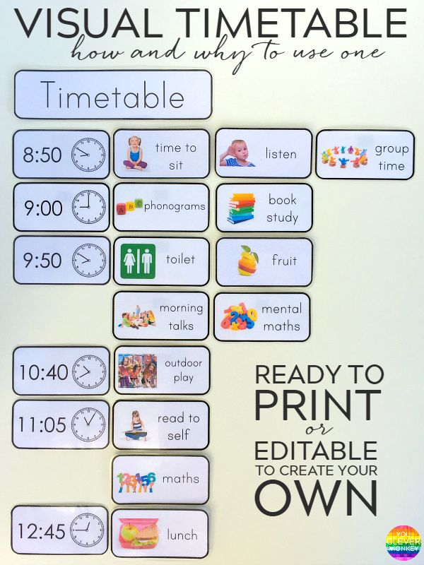 Best 25+ Visual schedule printable ideas on Pinterest | Visual