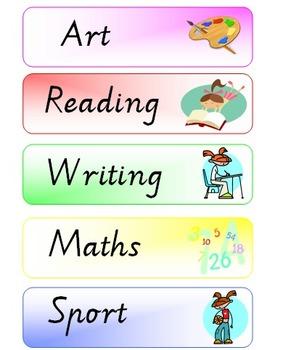 Fourth Grade Lemonade: Class Schedule Printable Clip Art Library