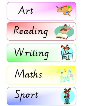 Visual Timetable / Classroom Schedule printables by Miss Kelly AUS