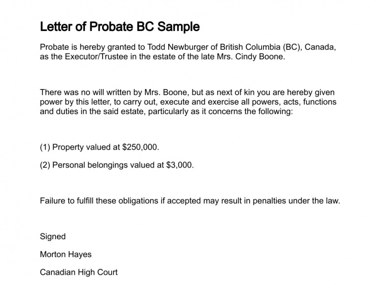 probate letter templates  u2013 planner template free
