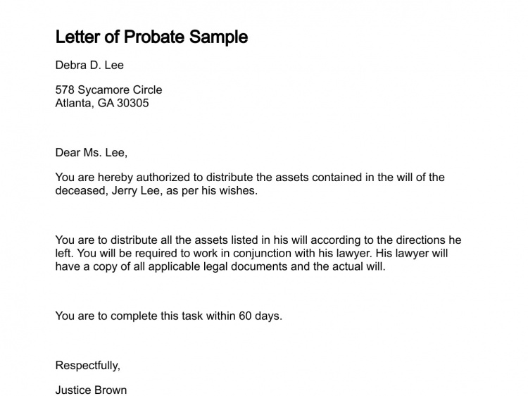 Letter of Probate